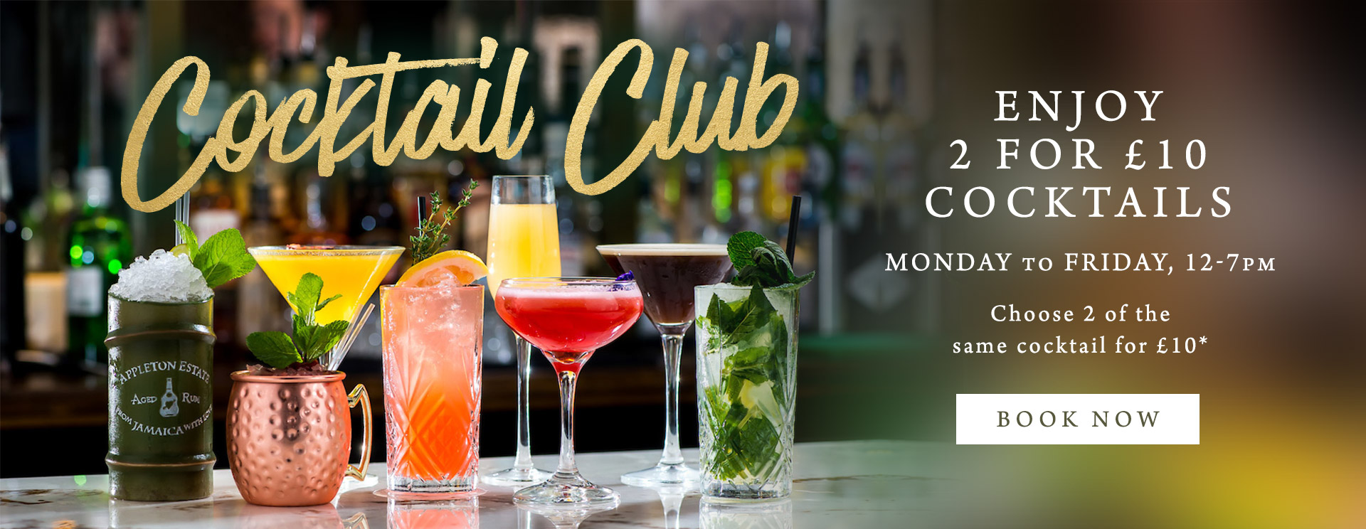 2 for £10 cocktails at The Bell Inn
