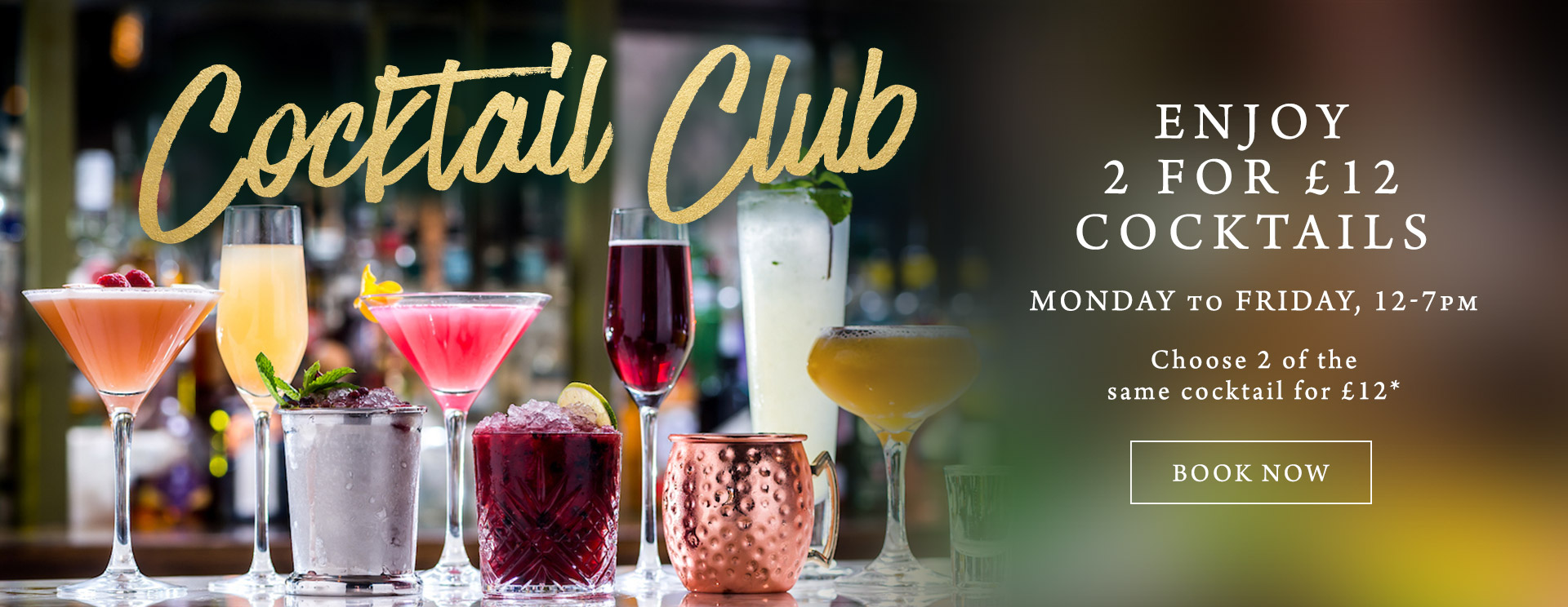2 for £12 cocktails at The Bell Inn